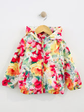 Load image into Gallery viewer, floral rain jacket / 3T