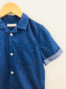 polka dot button up / 4T