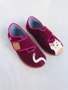 felt kitty shoes / US 12