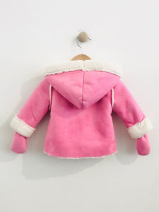 faux shearling coat / 6m