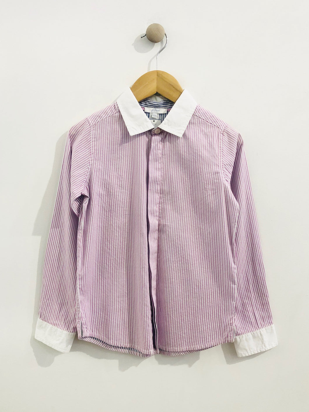pin stripe button up / 7Y