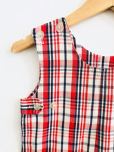 Load image into Gallery viewer, plaid romper / fits 6-9m