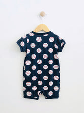 Load image into Gallery viewer, baseball short onesie / 9-12m
