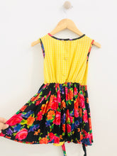 Load image into Gallery viewer, floral & gingham dress / 4T