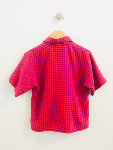 gingham button up / 8-10y