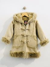 Load image into Gallery viewer, faux fur and suede coat / 3T