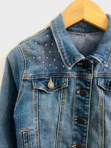 """true love"" embroidered denim jacket / 6-7Y"