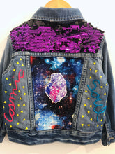 "Load image into Gallery viewer, ""cosmic soul"" embroidered denim jacket / 3T"