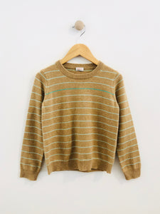 striped cashmere sweater / 5Y