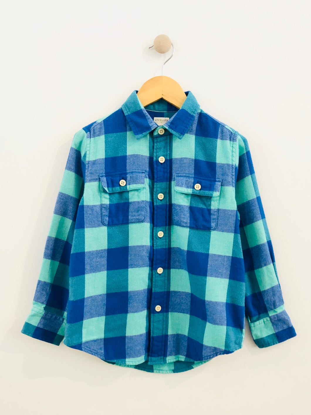 plaid flannel / 6-7Y