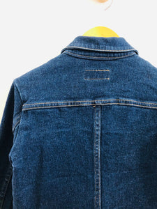 vintage zip up denim jacket / 8Y