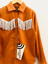 Load image into Gallery viewer, fringe western shirt / 10-12Y