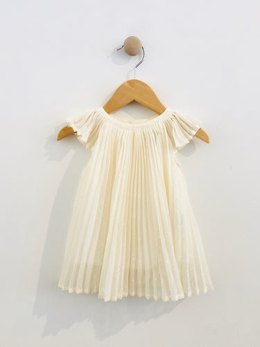 pleated dress / 3-6m