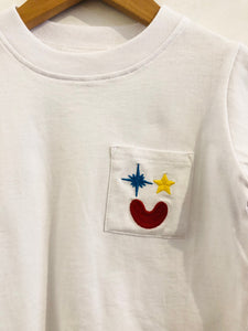 embroidered pocket tee / 2T