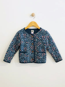floral quilted jacket / 4T