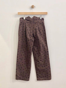 polka dot pants / 8Y