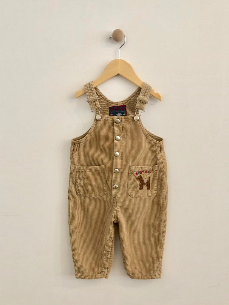 embroidered corduroy overalls  / 18m