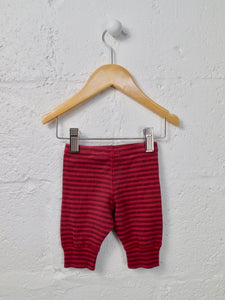 striped leggings / 0-3M