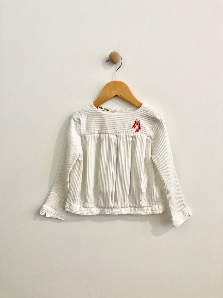 puppy embroidered top / 2-3T
