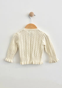 cable knit cardigan / 12m