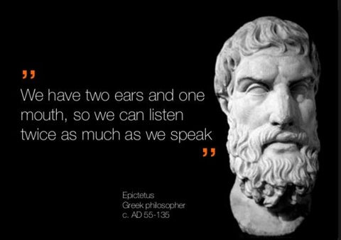 two ears, one mouth