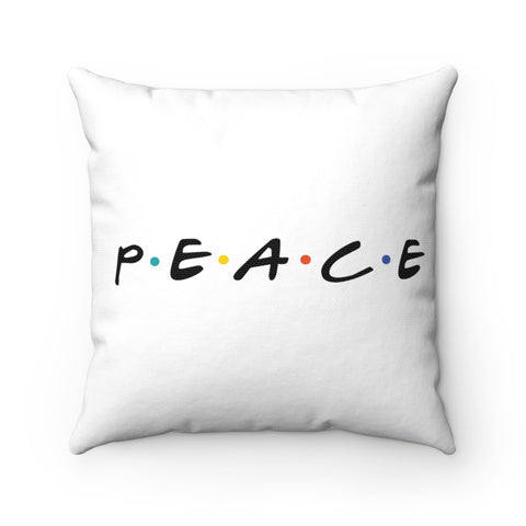 Peace Pillow - White
