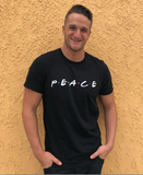 Men's Peace Tee - White Logo