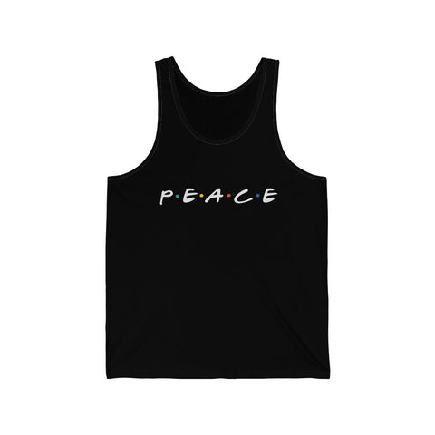 Men's Peace Tank - White Logo