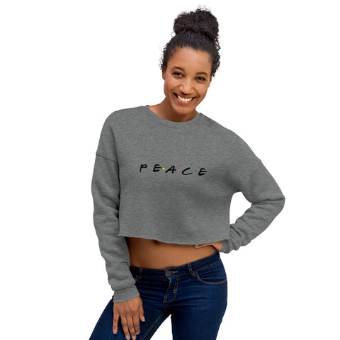 Women's Peace Crop Sweatshirt - Black Logo