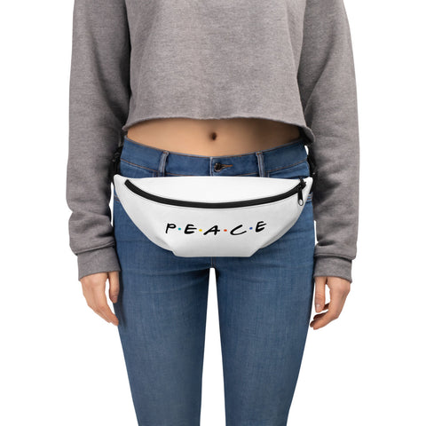 Peace Fanny Pack - White