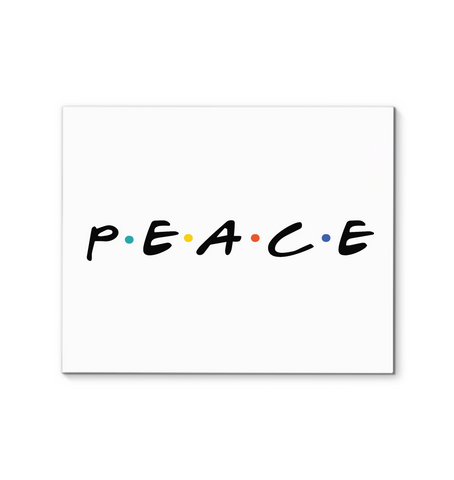 Peace Canvas Wall Art - White