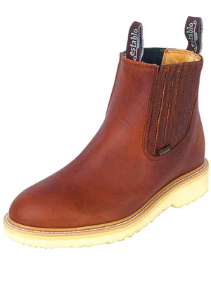 """Establo"" Work Boots Bull Fight - Honey"