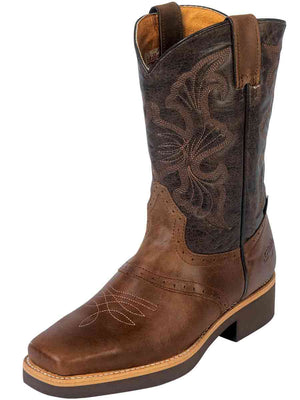 """El Establo"" Rodeo Work Boots - Coffee"