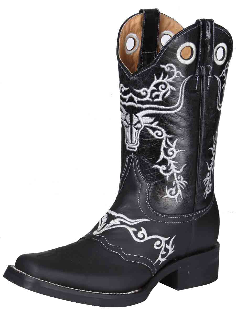 """El General"" Rodeo Boot Piel crazy Boot - Black"