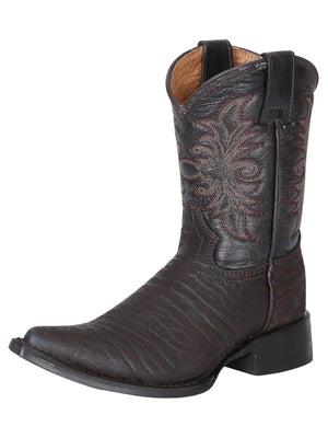 """Centenario"" Bull's Neck Cowboy Boot - Brown"