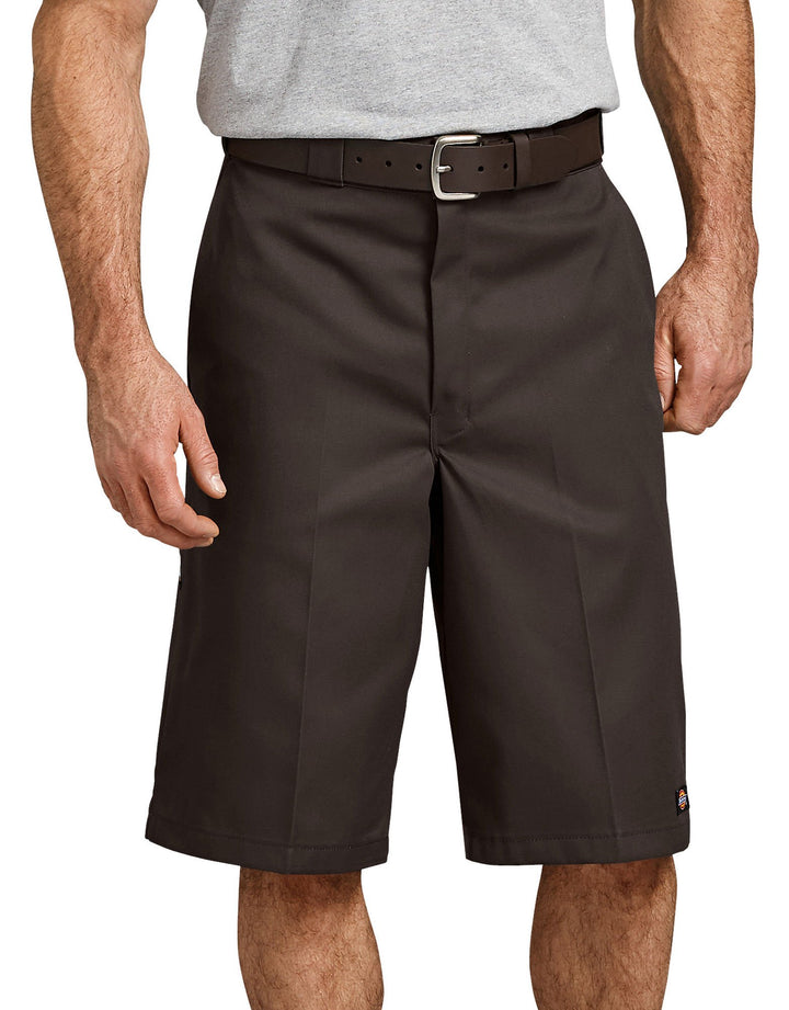 "13"" Loose Fit Multi-Use Pocket Work Shorts- Dark Brown"