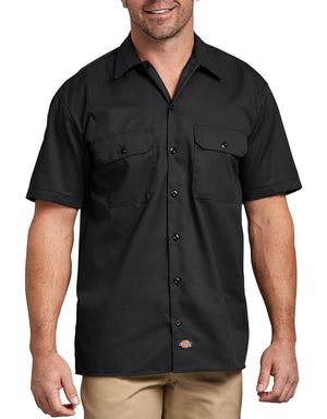 Short Sleeve Work Shirt, Black