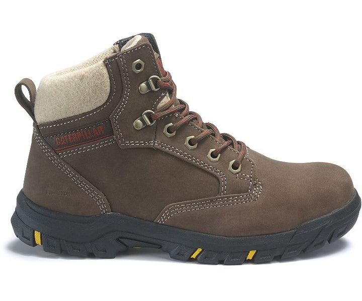 Tess Steel Toe Work Boot- Chocolate