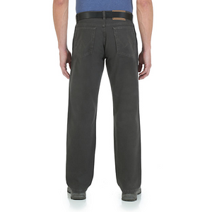 Rugged Wear Relaxed Fit Mid Rise Jean- Tar Canvas