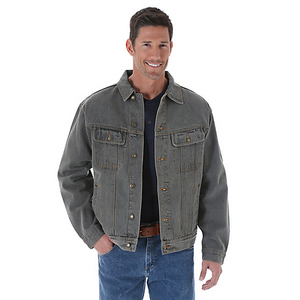 Rugged Wear Denim Jacket- Charcoal