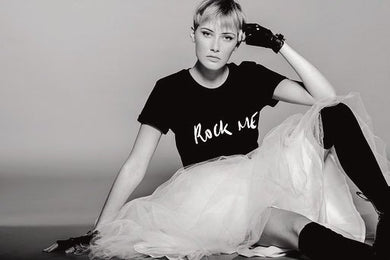 T-shirt ROCK ME noir By Romance