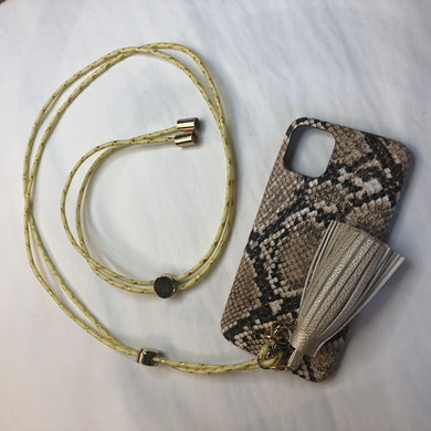 Collier Iphone LOVELACE Cordon jaune Line Paris