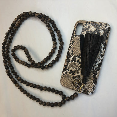 Collier Iphone LOVELACE Palissandre Chocolat Line Paris
