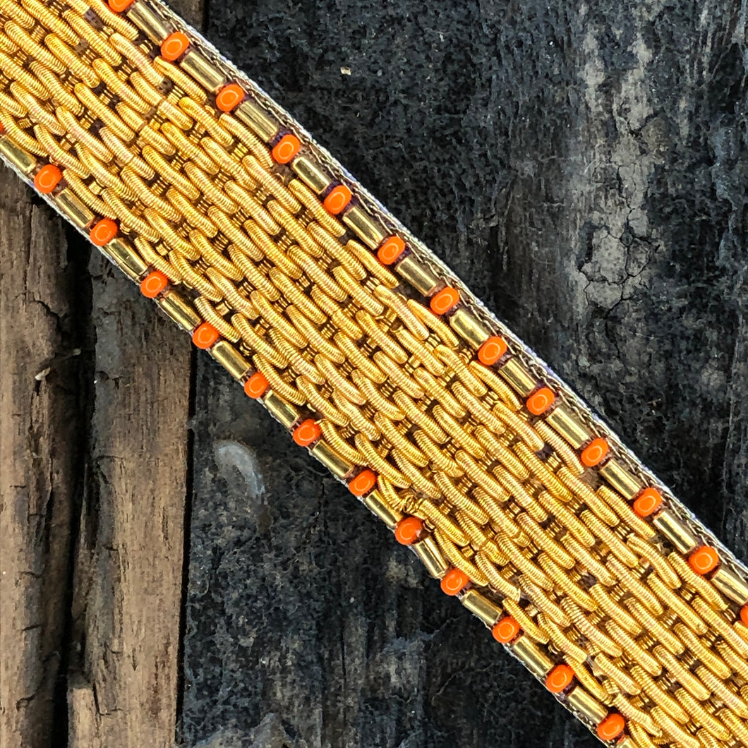 Bracelet THICK GOLD 12 rangs Orange  Unchrome x Nahua - La Clapeuse à Talons