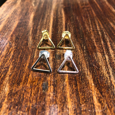BO Puces TRIANGLE or ou argent By Sidonie