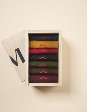 Semainier Homme Multicolores M.Moustache