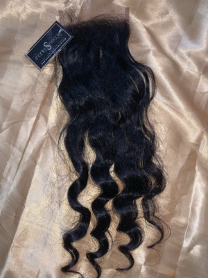 Raw Cambodian Coarse SEA Wavy 5*5 Micro lace closure