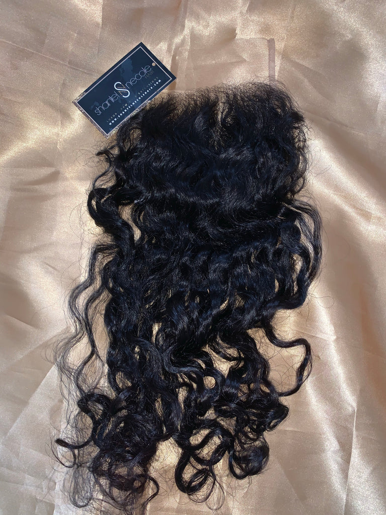 Raw Cambodian Coarse SPECIAL Curly 4*4 micro lace closure