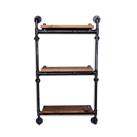 Three-layer Iron Pipe Storage Rack Wall Decoration