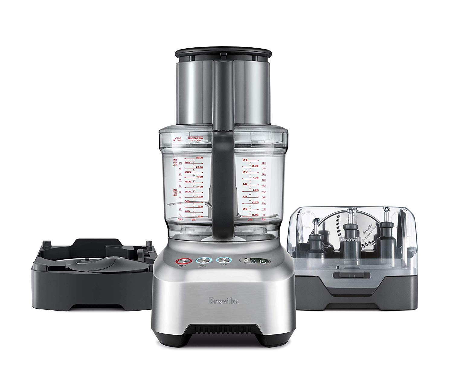 All In One Kitchen Appliance.Breville Sous Chef 16 Peel Dice All In One Food Processor Bundle W Peeling And 12mm Dicing Attachment Bfp820